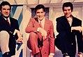 From left Naser Malek Motiee, Mohammad Ali Fardin, Behrouz Vossoughi (1960s).jpg