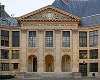 Fronton de la Bibliotheque Mazarine Paris.jpg