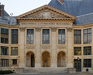 Bibliothèque Mazarine - Facade of the Bibliothèque Mazarine within the Palace of the Institut de France