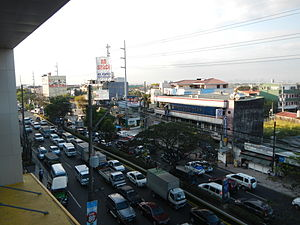 Dr. A. Santos Avenue - Dr. A. Santos Avenue near President's Avenue viewed from SM City BF Parañaque in BF Homes