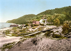 Mönchgut - Historical Postcard from the Beach of Göhren, circa 1890-1900