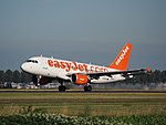 G-EZAU easyJet Airbus A319-111 cn2795 takeoff from Schiphol (AMS - EHAM), The Netherlands pic1.JPG