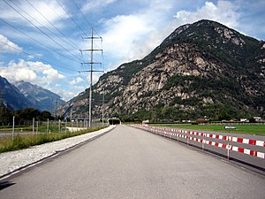 Biasca - Part of the new Gotthard tunnel near Biasca
