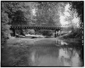 GENERAL VIEW OF WEST SIDE - Sockman Road Bridge, Spanning Granny Creek on Sockman Road, Fredericktown, Knox County, OH HAER OHIO,42-FRED.V,2-2.tif