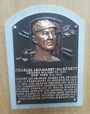 Gabby Hartnett - Plaque of Gabby Hartnett at the Baseball Hall of Fame