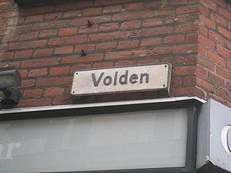 Volden, Aarhus - Image: Gadeskilt Volden