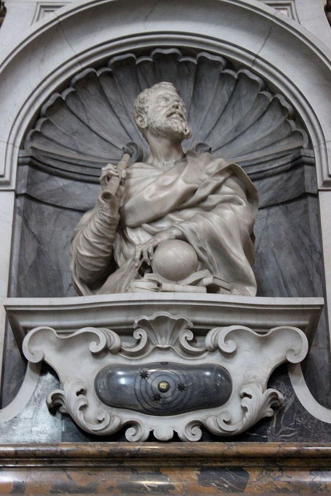 Giovan Battista Foggini, busto di Galileo Galilei, tomba di Galileo Galilei,Basilica of Santa Croce,Firenze