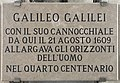 Galileo inscription on St Mark's Campanile.jpg