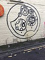 Gallifreyan graffiti in Bridgend.jpg