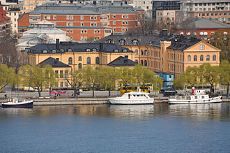 Karolinska Institute - Original Caroline Institute buildings at street Hantverkargatan in Kungsholmen, Stockholm