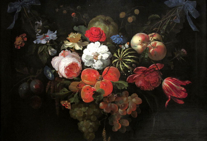 File:Garland of Fruit and Flowers, Abraham Mignon, c.1660.jpg