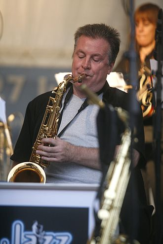 Gary Barnacle - Gary Barnacle playing with Big Band at Rochester Castle in 2011