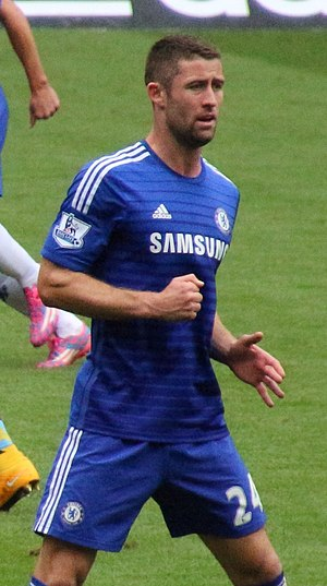 Gary Cahill - Cahill playing for Chelsea in 2014