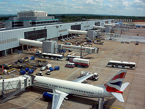 Gatwick Airport - Aircraft stands at the North Terminal