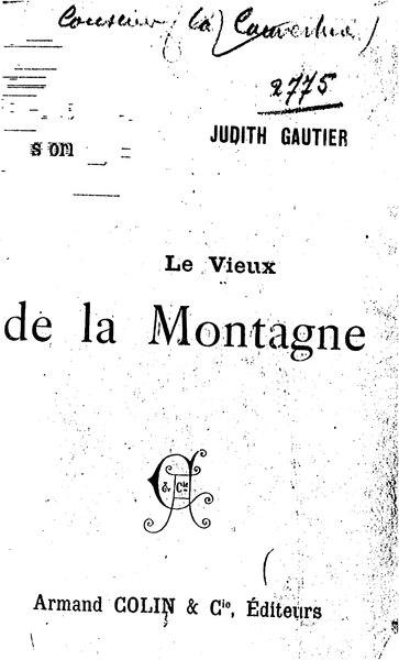 File:Gautier - Le Vieux de la montagne, Armand Colin et Cie, 1893.djvu