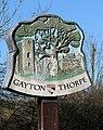 Gayton Thorpe village sign (close-up) - geograph.org.uk - 1745933.jpg