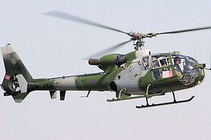 Joint Helicopter Command Flying Station Aldergrove - Westland Gazelle AH1 of the type based at Aldergrove.