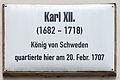 Gedenktafel Coswiger Str 3 (Wittenberg) Karl XII.jpg