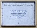 Gedenktafel Münchowstr1 (Zehl) Helene Stöcker.jpg