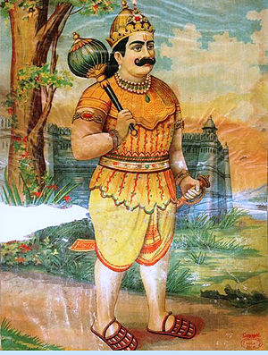 Pandava - Bhima, the second Pandava, powerful warrior