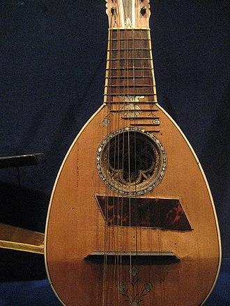 Mandola - A Genoese mandola,  c. 1700s.