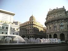 Photographie de Piazza de Ferrari à Gênes