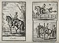 Gentlemen on horses performing three different gaits, includ Wellcome V0021794.jpg