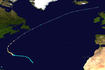Track map of Hurricane George