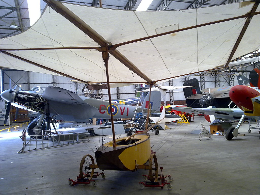 A Replica of George Cayley Glider at the Yorkshire Air Museum