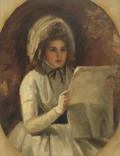 """lossy-page1-460px-George_Romney_-_Lady_Hamilton_as_""""Serena""""_Reading_a_Newspaper_-_1945-2.4_-_Albright–Knox_Art_Gallery.tiff.jpg (460×600)"""