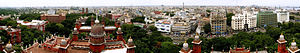 Madras High Court - Panoramic view of the High Court and its surroundings