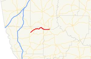 Georgia State Route 190 - Image: Georgia state route 190 map