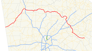 Georgia State Route 53 - Image: Georgia state route 53 map