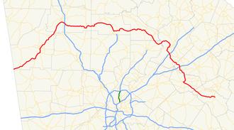 Georgia State Route 53 - Image: Georgia state route 53 map