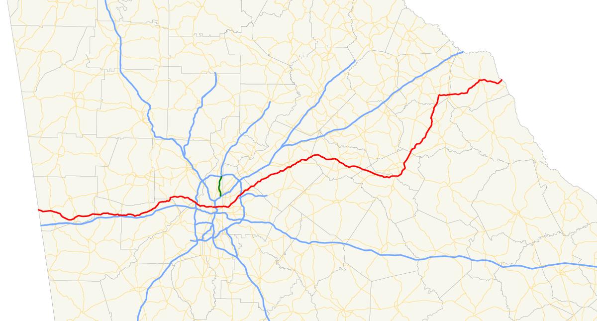Georgia State Route Wikipedia - State map georgia