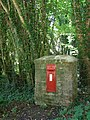 Georgian post box north of Brockwood Park - geograph.org.uk - 188033.jpg