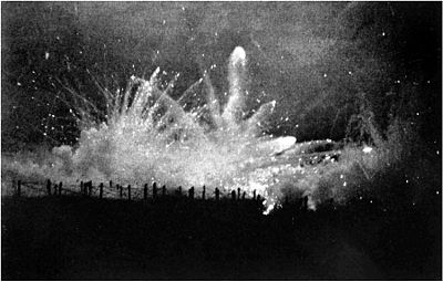 German Barrage Fire at Night (Ypres)
