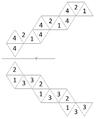 Gesichterorientierte Netzbschritfung eines Tetrahexaflexagons.png