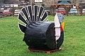 Giant Black Turkey at Blackers Hall Farm Shop, near Crigglestone - geograph.org.uk - 1624018.jpg