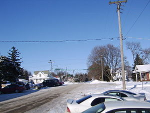 Scales Mound, Illinois - Scales Mound - Main Street in Winter 2008