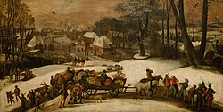 Gillis Mostaert: Military expedition in Winter