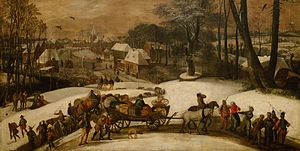 Gillis Mostaert - Military expedition in winter