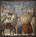 Giotto di Bondone - Legend of St Francis - 2. St Francis Giving his Mantle to a Poor Man - WGA09119.jpg