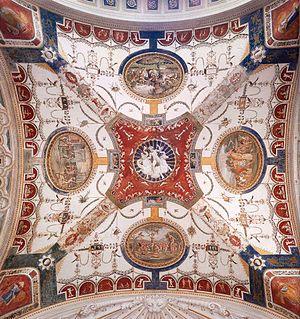 Villa Madama - Ceiling decoration of one bay of the garden loggia (Giovanni da Udine, c. 1521)