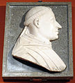 Giovanni antonio amadeo, profilo di monaco, marmo e granito, 50x41 cm., coll priv..JPG