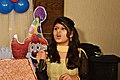Girl singing at birthday party in Chittagong (01).jpg