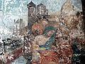 Gisors (27), collégiale St-Gervais-et-St-Protais, 5e chapelle du nord, peinture murale - Christ portant la croix et sainte Véro 05.jpg
