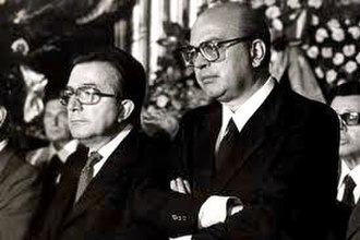 Giulio Andreotti - Andreotti with the Socialist leader and Prime Minister Bettino Craxi