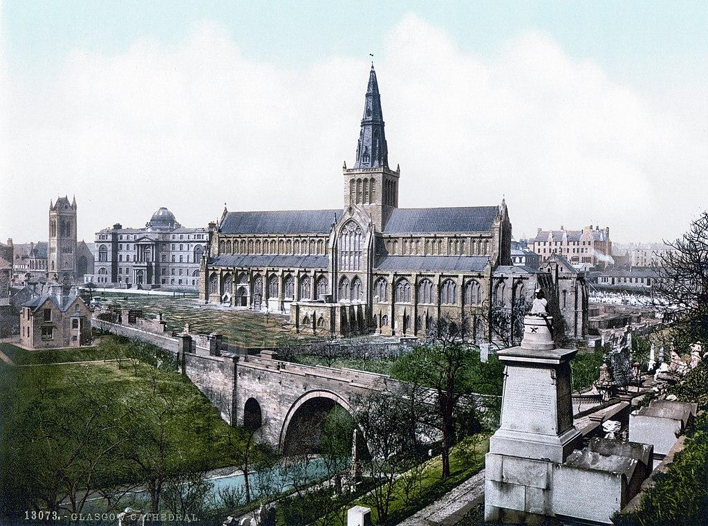 Cathédrale de Glasgow vers 1900.