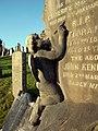 Glasgow. St Kentigern's Cemetery. Grave of Kennedy family. Sculpture of angel.jpg